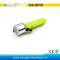 GS-9018 aluminum CREE Q5 led fluorescence surface waterproof diving flashlight