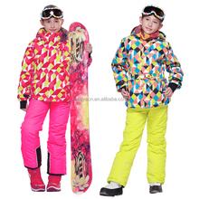Wholesale Phibee Children snowboard jacket and pants 2 piece girls ski suits