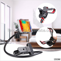 Wholesale price universal anti-slip long neck cell phone lazy bracket for bed/desk