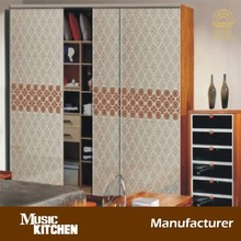 Space saving glass sliding wardrobe direct from factory