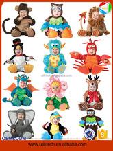 New design lovely party animal costume for baby wear wholesale kids dinosaur halloween costume (ulik)