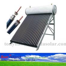 200L gavalized steel heat pipe pressurized solar water heater with 3 years warranty