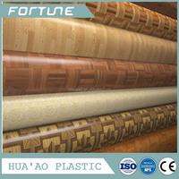 vinyl flooring cover roll glossy or emboss surface
