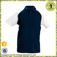 100 polyester polo shirts with contrast fabric