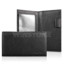 Deluxe full grain leather checkbook cover
