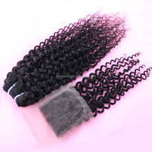 100% human hair products in natural color , bset sale virgin indian wavy hair weft