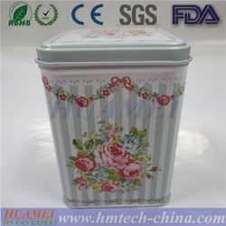 Rectangular food grade cookie tin box/tin container for cookie/decorative cookie tin box