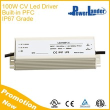IP67 Grade 100W 36V Constant Voltage Led Driver with Built-in Active PFC