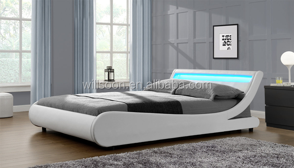 Modern European S Shaped Bedroom Furniture Design Double