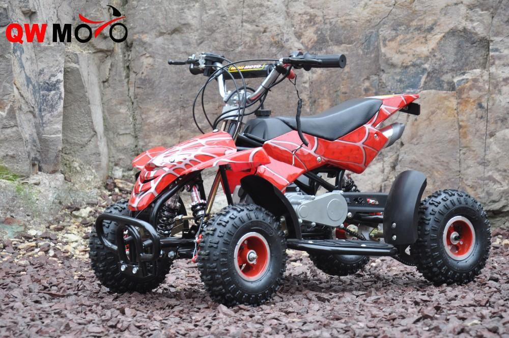 QWMOTO 49cc mini QUAD ATV Bike 49cc 4 Wheeler Buggy Kids 2 strokes Mini Motos Upgraded Gear Box 49cc Mini Moto