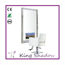 ... salon mirrors designs salon station double TV mirror station - Alibaba
