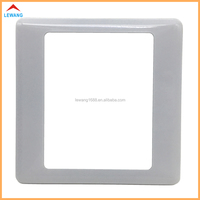 Custom stainless steel electrical wall switch plate,metal white painting led light switch plate