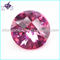 Wholesale Jewelry Stone Round Faceted Cut Colored CZ