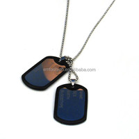 Wholesale Fashion Cheap Stainless Steel Dog Tag Pendant Necklace