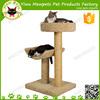 brown cozy premium cat perch furniture with sisal plush