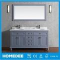 Homedee en bois massif Tona vanité salle de bain, Wicker armoire de toilette