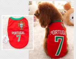 2015 Newest hot sale dog cloth with basketball uniform design