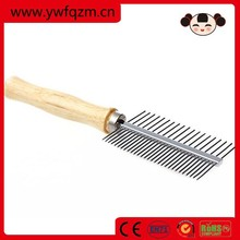 wooden dog pet hair grooming comb