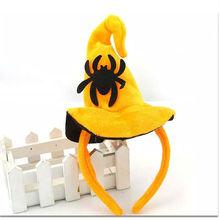 2015 venta al por mayor de halloween sombrero de bruja diadema fiesta de halloween diadema