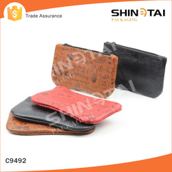 Cute quality ultrathin soft pu leather glasses pouch