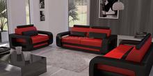 Simple living room 6 seater sofa real leather sofa set design 105C