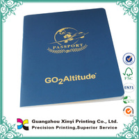 Art paper printing a4 custom passport book