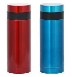 2015 new products solid mineral water bottle steel solid pure copper mug solid stainless steel tumbler with straw