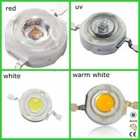3w high power led white/warm white/blue/uv/red(rohs led)