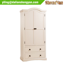 Modern White Bedroom Wooden Wall Wardrobe Design