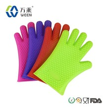 Heat resistant silicone gloves/silicone oven mitts for oven cooking/silicone bbq baking gloves