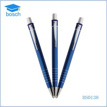 Classic blue metal ball pen , different color metal push pens in stock