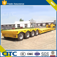 4 AXLES LOWBED SEMI TRAILER WITH EXTENDABLE PLATFORM or Concave type available