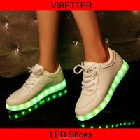 2015 wholesale flat sneaker light shoes LED shoe Fashion Night Light Men & Women Sports LED Shoes