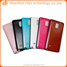 Olja pu leather back case for samsung galaxy note 4 cover