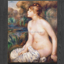 Wholesale famous painting printed modern decor Renoir nude Oil prints