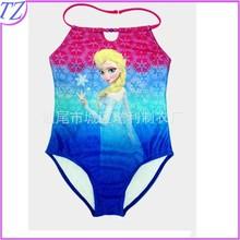 Top sale frozen 2015 kids elsa dress costume swimwear HZD63