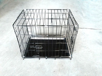 Wuyi Chuangquanxing folding metal pet dog cage with blanket