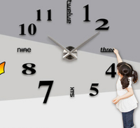Excellent Luxury DIY 3D Wall Clock Mirror Stickers Watch!