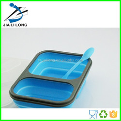 safety collapsible silicone unique compartment dinner plates