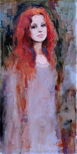 Impressionist Young Girl Painting By Ukraine Female Painter Irene Sheri