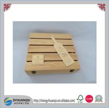 Caoxian Factory supply cheap wooden wine box, case ,crate for wholesale