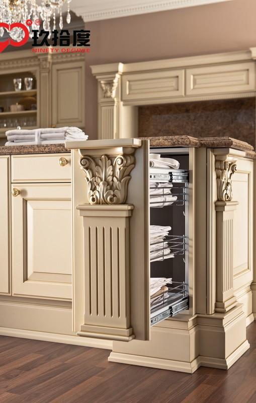 Luxus Europäischen stil küchenschrank mit zarten rom spalte und ...