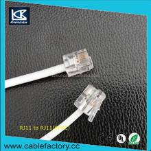 Hot sale telephone cable rj11 power cable 6P4C UTP cable