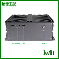 High-quality D2550 dual core fanless industrial computer with PCI