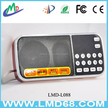 Mini portable dual band radio rechargeable speaker mp3 music player LMD-L088AM