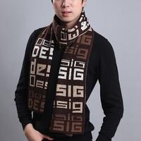 wholesale High quality fashion style 3color choice warm winter muffler printed boy scarf 2015