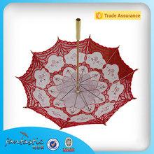 Por mayor de china parasol nupcial paraguas de novia de encaje