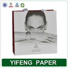 Luxury custom paper carry packaging bag, black paper bag