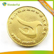 Art & Collectible Use and Carved Technique China Regional Custom Metal Promotion Gold Souvenir Coin
