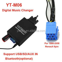 Yatour YT-M06 for Renault 8 pin car radio USB/SD/AUX/Bluetooth mp3 interfaces bluetooth car adapter